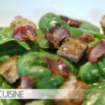 Salade d'épinards für das Elsass-Blogevent von Zorra und Sabine