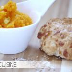 Möhrenstreich mit Sesamsalz auf Käsebrötchen bei den ELBCUISINE-Kids