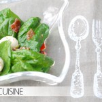 Spinat-Salat mit Mozzarella und einem außergewöhnlichen Dressing