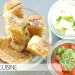 Gefüllte Leckerei in der Mittwochsbox: Ganz einfache Toaststicks mit Mozzarella-Basilikum-Füllung
