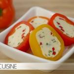 Chili-Kräuter-Butter attraktiv präsentiert im Snack-Paprika-Mantel!