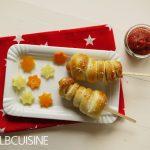 Würstchen-Raketen mit Sternchen und selbstgemachtem Ketchup zaubern fröhliche Kinderaugen!
