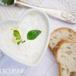 Dippen ist angesagt – Auberginen im weißen cremigen Gewand, mit 3 Zutaten zur leckeren Vorspeise aus Gemüse