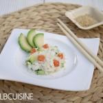 Grüße aus Fernost: Sushi nicht gerollt, sondern ganz einfach als Salat mit Apfel-Wasabi-Dressing