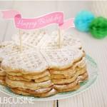 Geburtstags-Waffeln – Knuspergeburtstagsgruß fürs Knusperstübchen