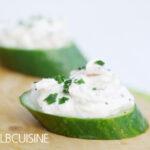 Low-Carb-Gurken-Lachs-Snack für den kleinen Hunger