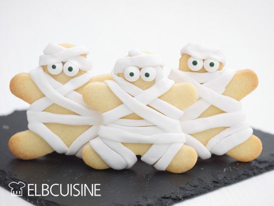 Vanille Kekse mit Fondant werden für Halloween die perfekten Mitbringsel