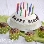 Party mit vielen Gästen – White-Brownie-Torte und Muffins in einem!