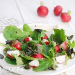Kurioser nachhaltiger Radieschen-Grün-Salat – hier wird alles verwertet, schmeckt einfach wunderbar!