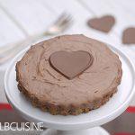Ratz-Fatz Nutella-Cheesecake-Tarte mit Crunchy-Effekt – die perfekte Idee zum Valentinstag als Dessert oder Torte