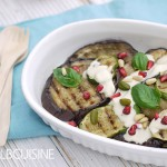 Echtes Soulfood: geröstete Aubergine und Zucchini mit Tahini und Granatapfel – ein Traum!