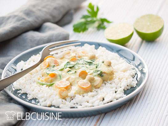 Leckeres Veggie-Curry mit Blumenkohlreis