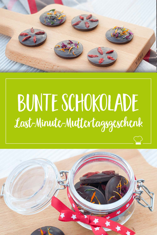 bunte Schokolade Snack Geschenk