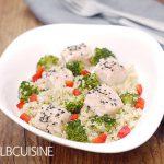 Quinoa mit Lachswürfeln und Brokkoli – schnelle Feierabendküche // Gewinnspiel & Werbung