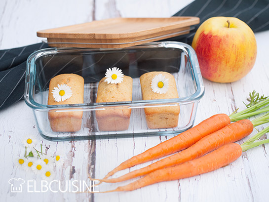 Nachhaltige Apfel-Karotten-Mini-Kuchen