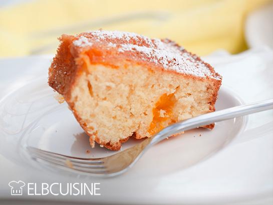 elbcuisine quark kuchen stück Teller