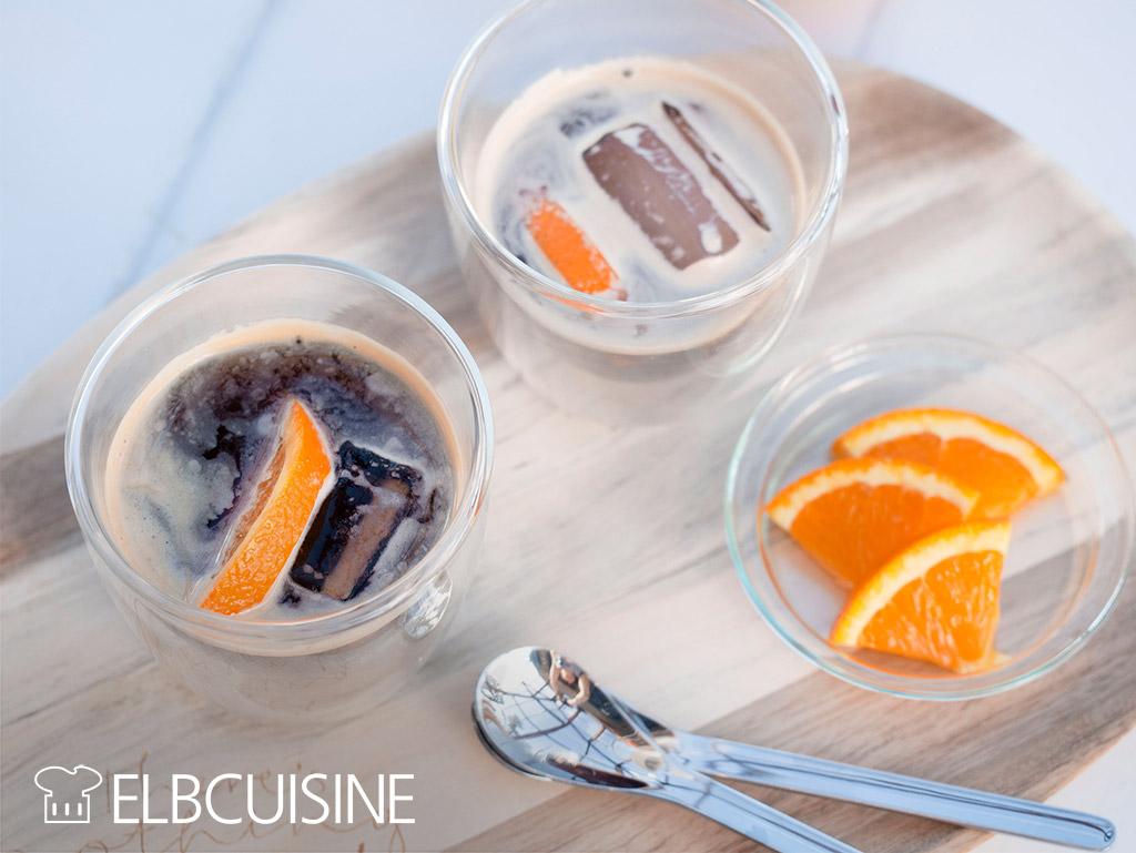 Eiskaffee Coffee Zutaten Orangen Eiswürfel