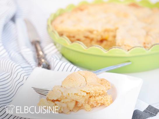 gedeckter Apfelkuchen Stück