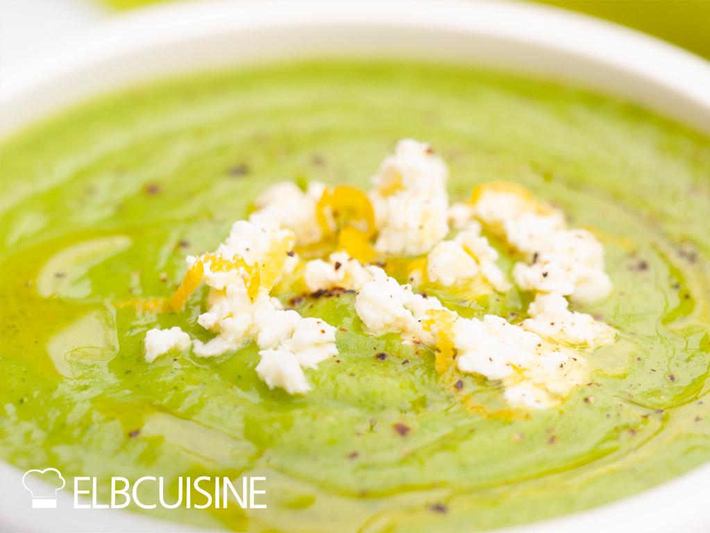 Zucchini-Erbsen-Suppe Ottolenghi