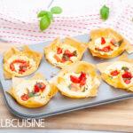 Filoteig-Feta-Paprika-Muffins – perfekt für Gäste!