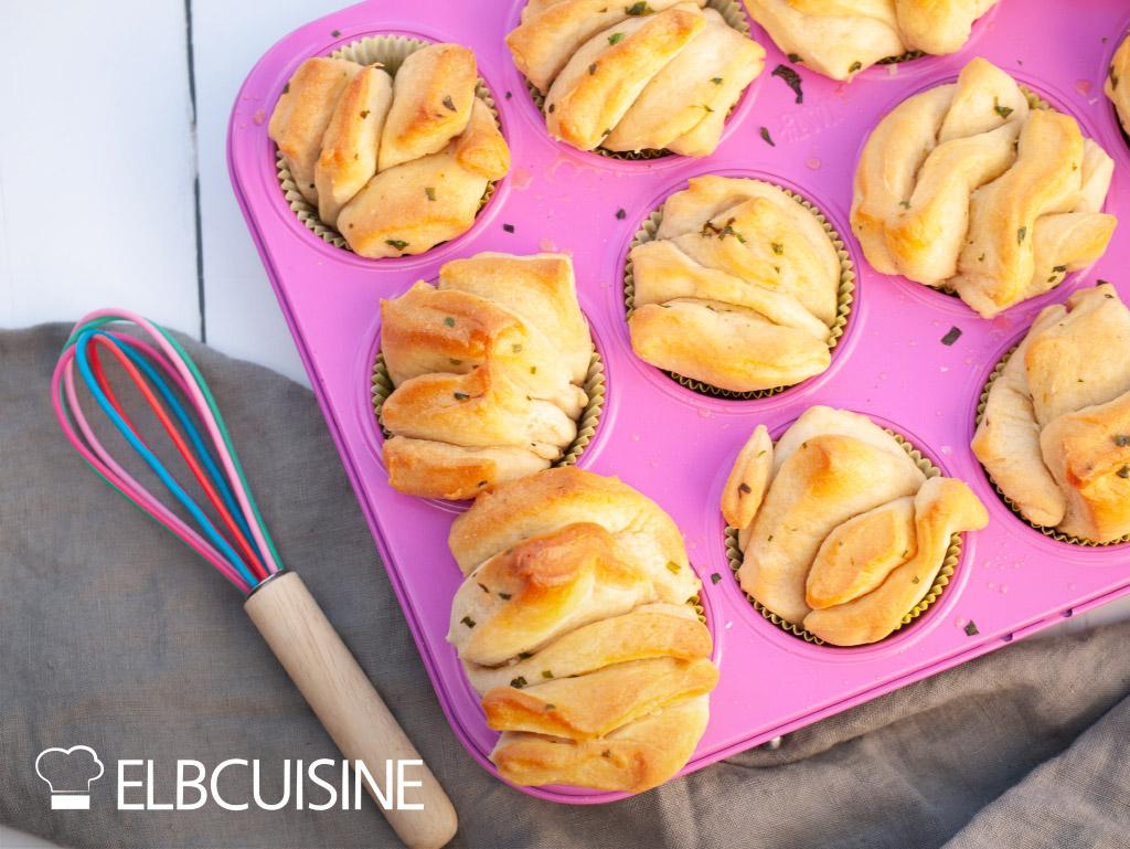 Bärlauch-Zupfbrot-Muffins ELBCUISINE